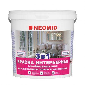 Пропитка для дерева Neomid краска огнебиозащитная 3 в 1
